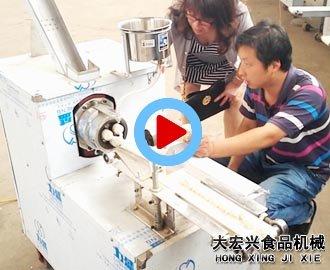 广西麻花机客户来厂现场试机视频【实拍】